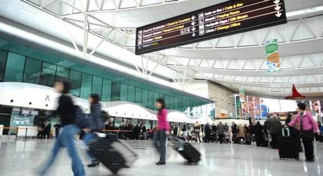 29 bin 542 turist 'Hava'dan iniş yaptı