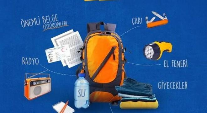 AFAD uyardı: 'Afet çantanız hazır olsun'