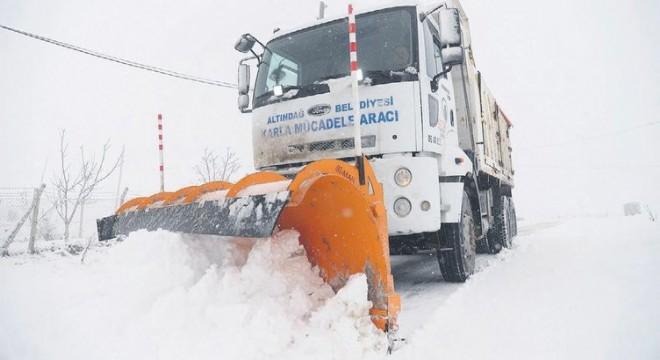 Altındağ'da kar nöbeti