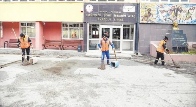 Altındağ'da okullara detaylı temizlik
