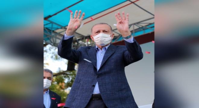 Erdoğan, Eskişehir de toplu açılış törenine katıldı
