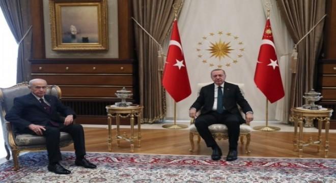 Erdoğan, Bahçeli'yi kabul etti