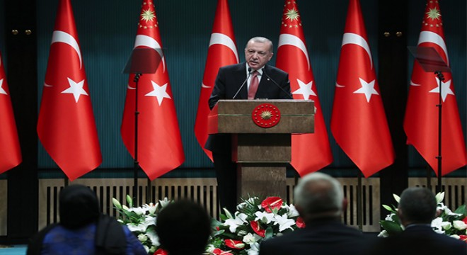 Erdoğan, kabine toplantısının ardında millete sesledi