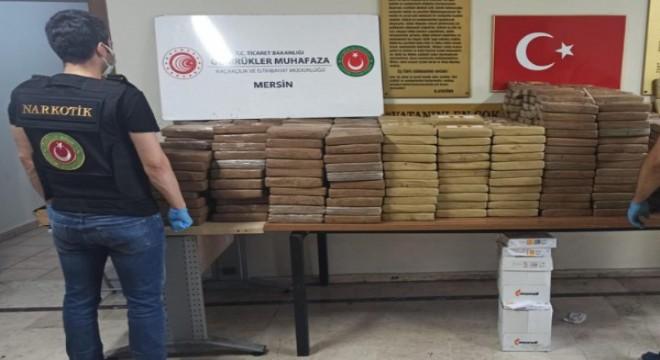 Mersin Limanı'nda 1 tonun üzerinde kokain ele geçirildi