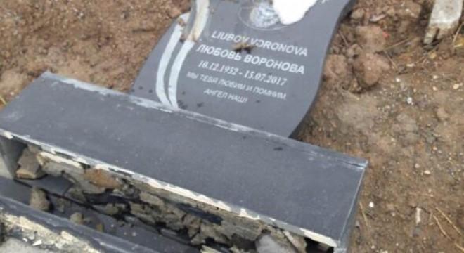 Mezarlara çirkin saldırı