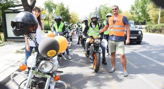Motosikletliler LÖSEV için gaza bastı