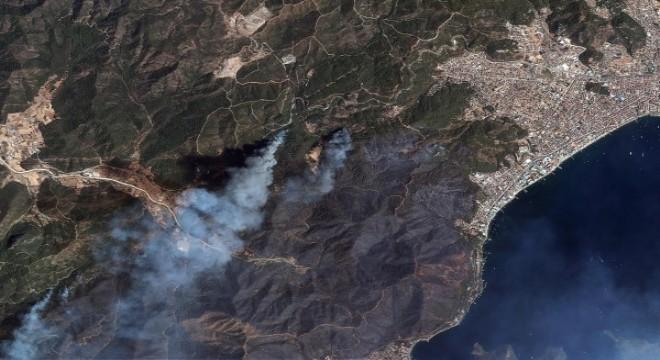 Orman yangınları uzaydan görüntülendi