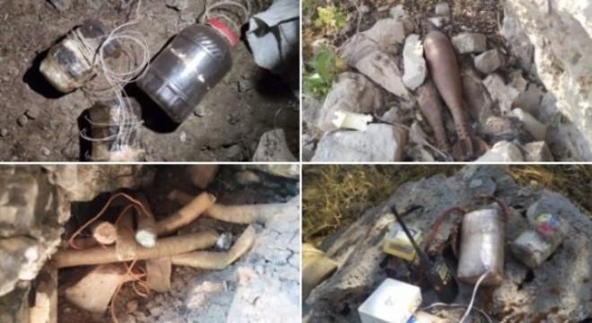 PKK'ya ait çok sayıda mühimmat ve yaşam malzemesi ele geçirildi
