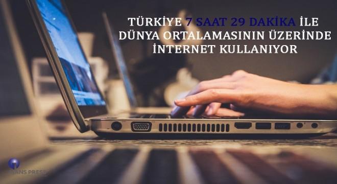 Türkiye'de internet kullanım oranı dünya ortalaması üzerinde